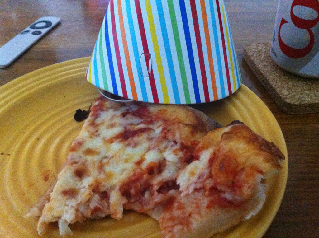 A celebratory slice of pizza from Fazio's. This is the prize every spectator of the Pittsburgh Marathon deserves.