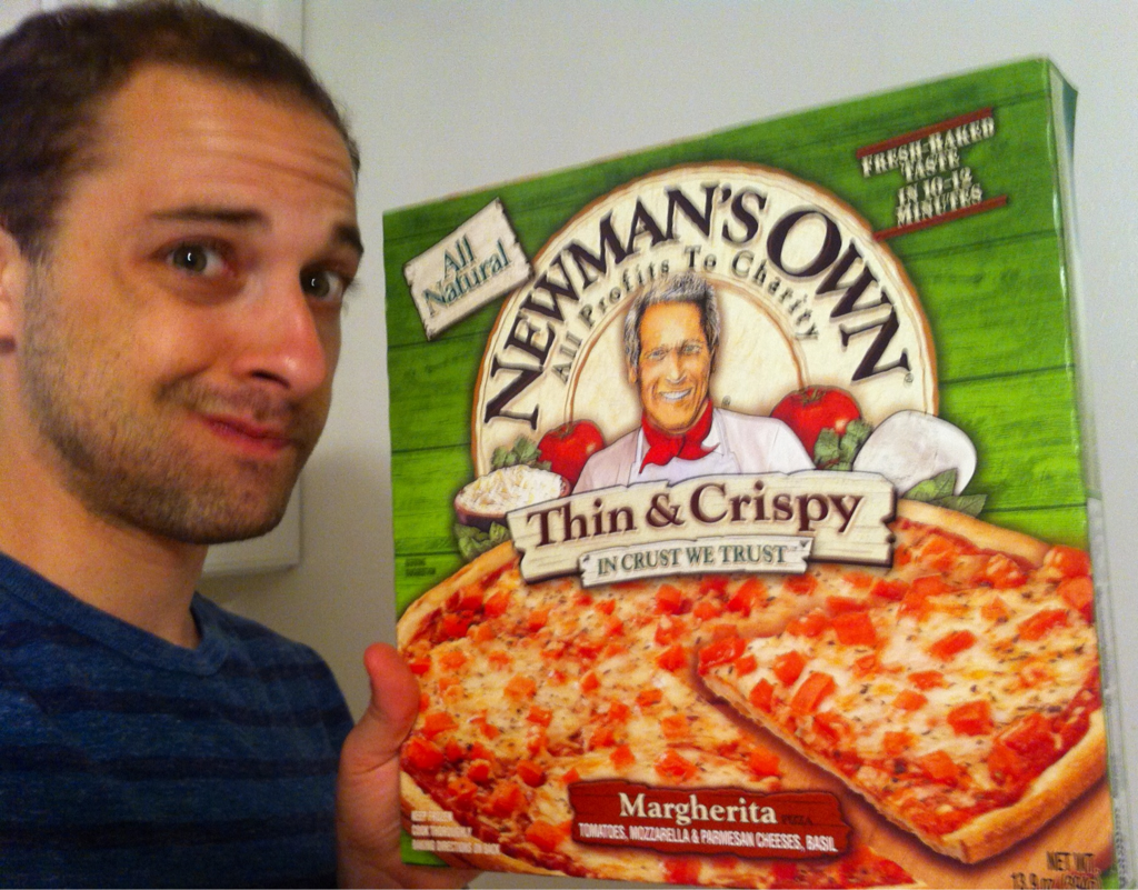 Going down the murky avenue of frozen pizzas. Will report back with results. Hey, at least my money will go to charity.