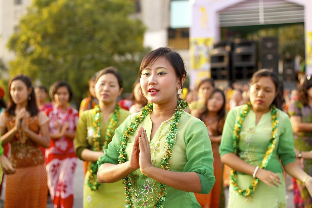 People of Yangon  Traditional choreographed dancers can be seen throughout the country