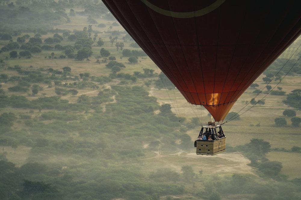 Balloons over Bagan.