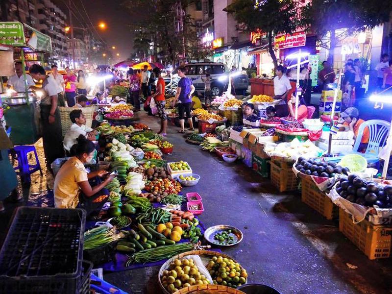 Local night market.  Chinatown night market.