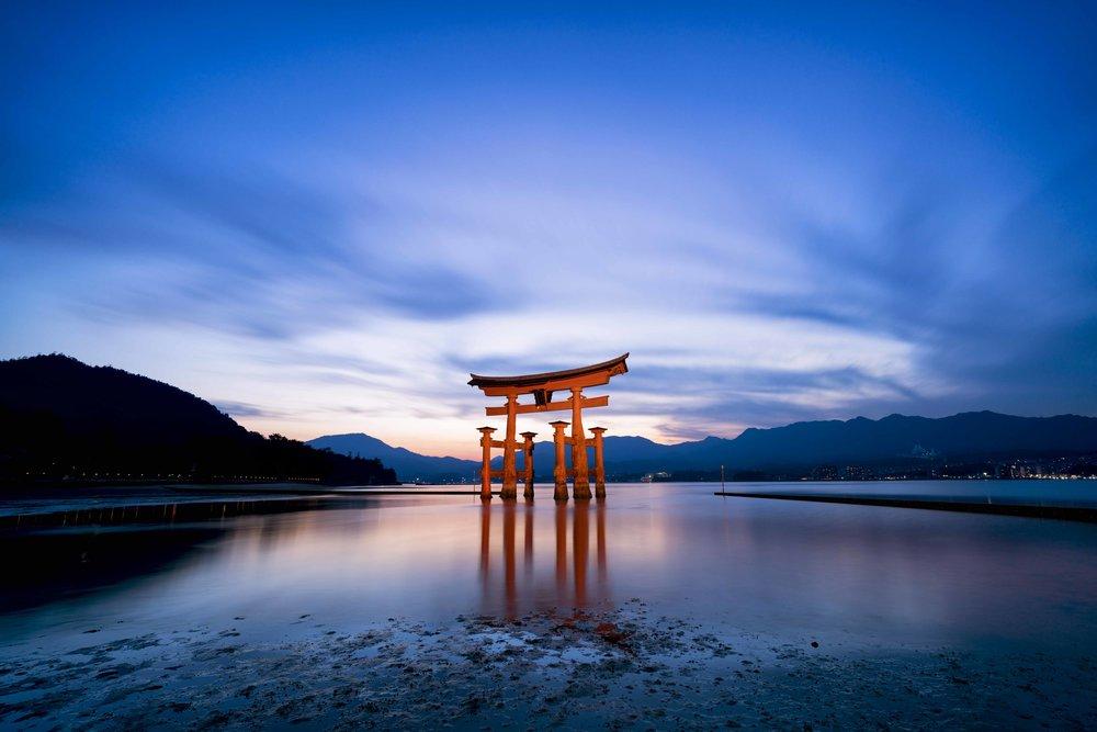 Miyajima Floating Torii,Itsukushima Island, Near Hiroshima, Japan