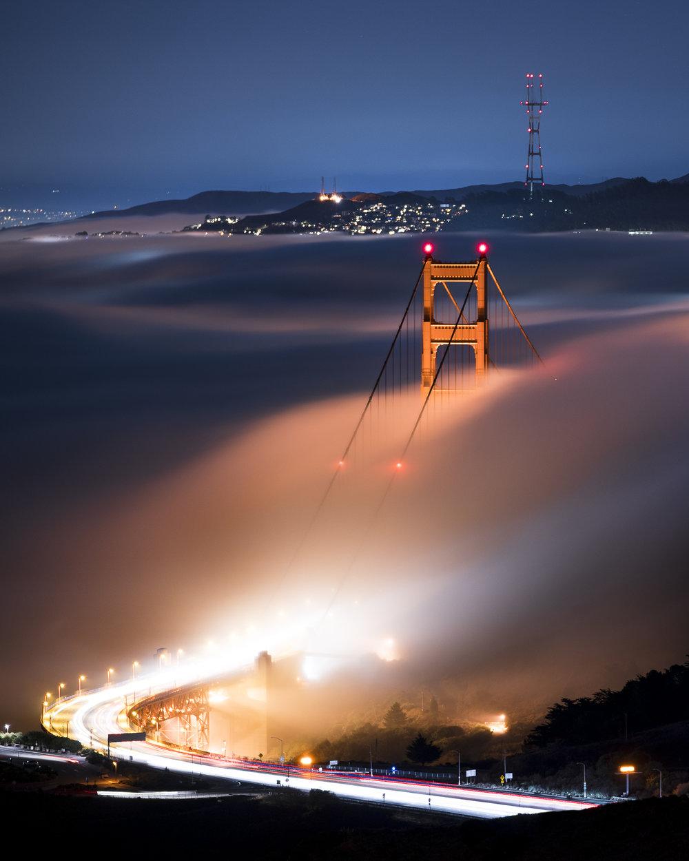 Low Fog Golden Gate Bridge, San Francisco, California