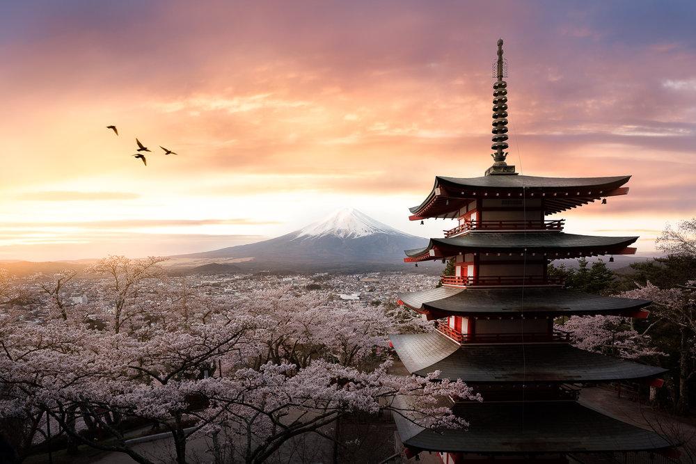 Chureito Pagoda, Fujiyoshida, Japan