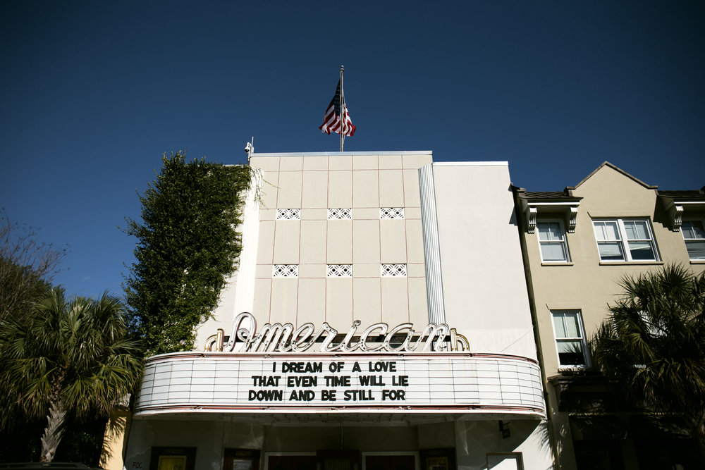The American Theater on King Street. Fun Fact: A scene of The Notebook was filmed in front of here.