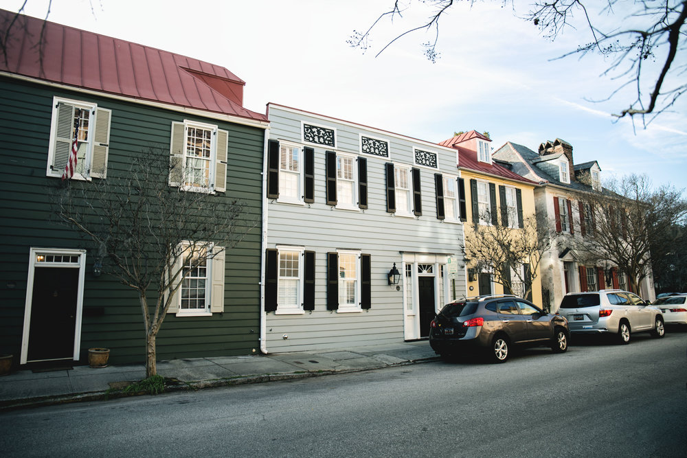 Looking down streets of Charleston, this was a common scene.