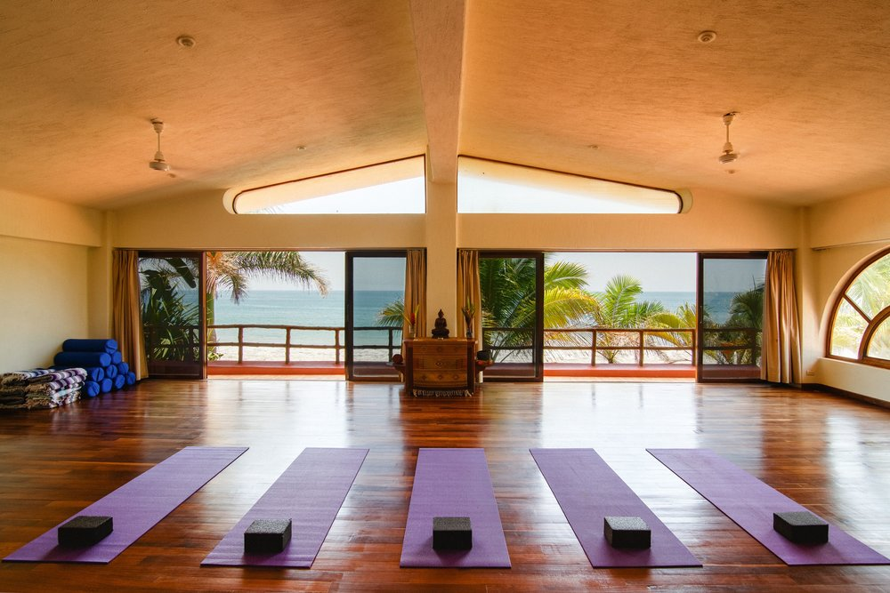 Experience daily classes in Mar de Jades' spacious studios with stunning views of the ocean.