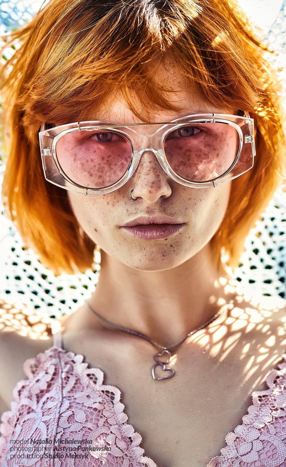 Natalia Michalewska, beauty, girl, freckles, natural, portrait, summer, glasses, pro, retouch, photography, D4s, nikkor 105 macro, Justyna Pankowska, Studio Meksyk 1.jpg