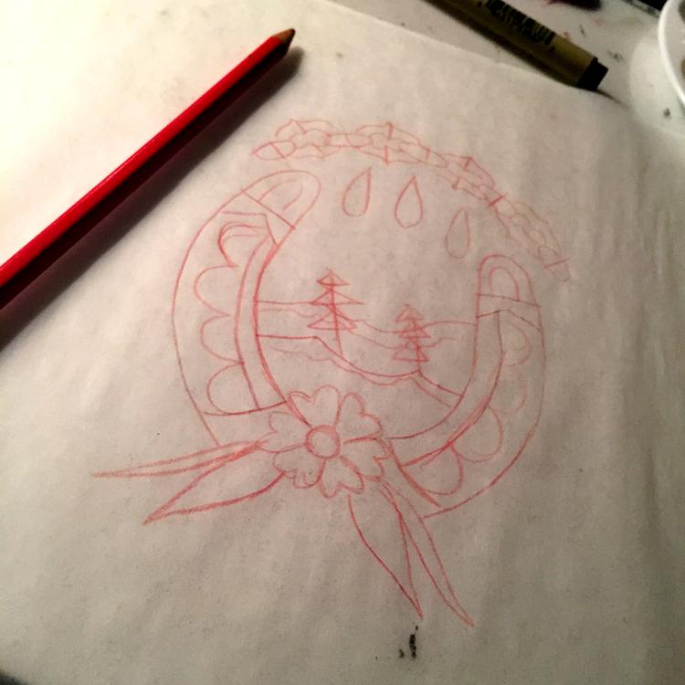How To Paint Traditional Tattoo Flash Enlighten Creative Studio
