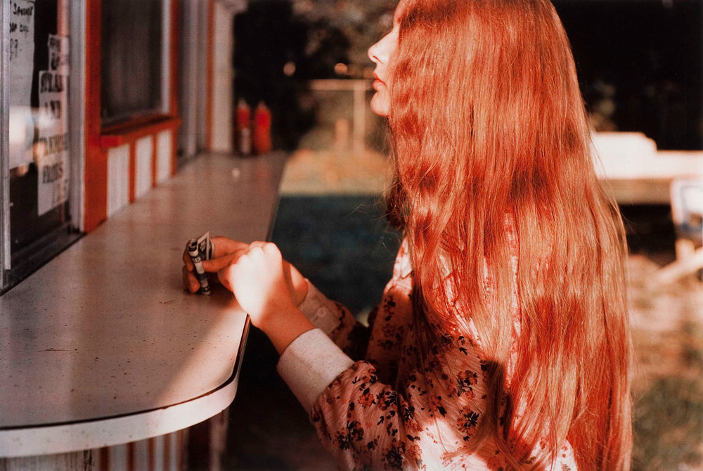 Critics struggled to find discourse in which to categorize Eggleston's MOMA show in 1976, just as they did two decades earlier in review of the Robert Frank's 1958 book,  the Americans . Today reviewers often describe an element of longing, foreboding and even evil to the underlie color-saturated imagery by William Eggleston.  Untitled, 1974 (Biloxi, Mississippi)