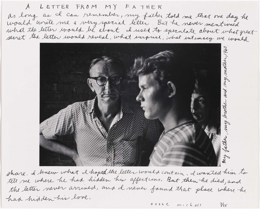 Duane Michals - A Letter from my Father. 1960–1975, Carnegie Museum of Art