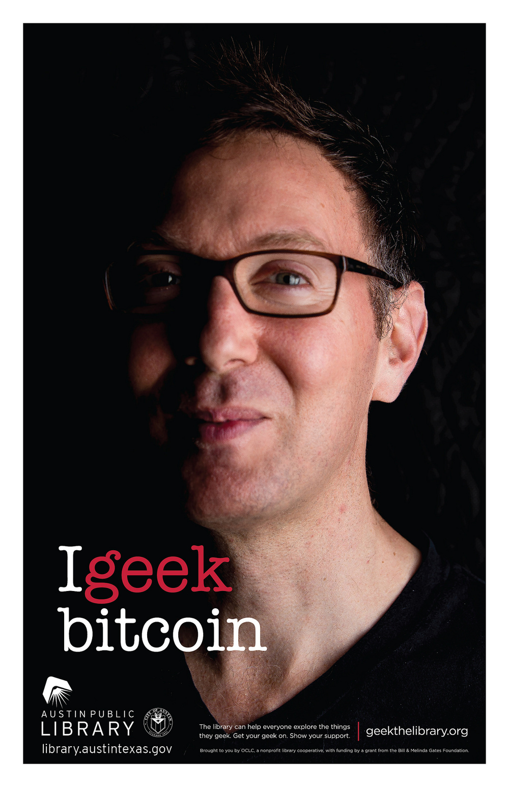 Bitcoin consultant Scott Rose geeking out for the Austin Public Library.