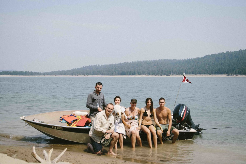 Above: The Kriek family on a boating trip on Lake Koocanusa in British Columbia, Canada.