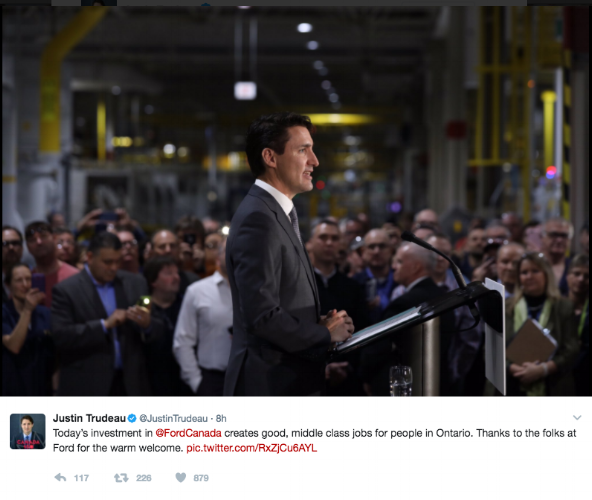Image: @JustinTrudeau Twitter