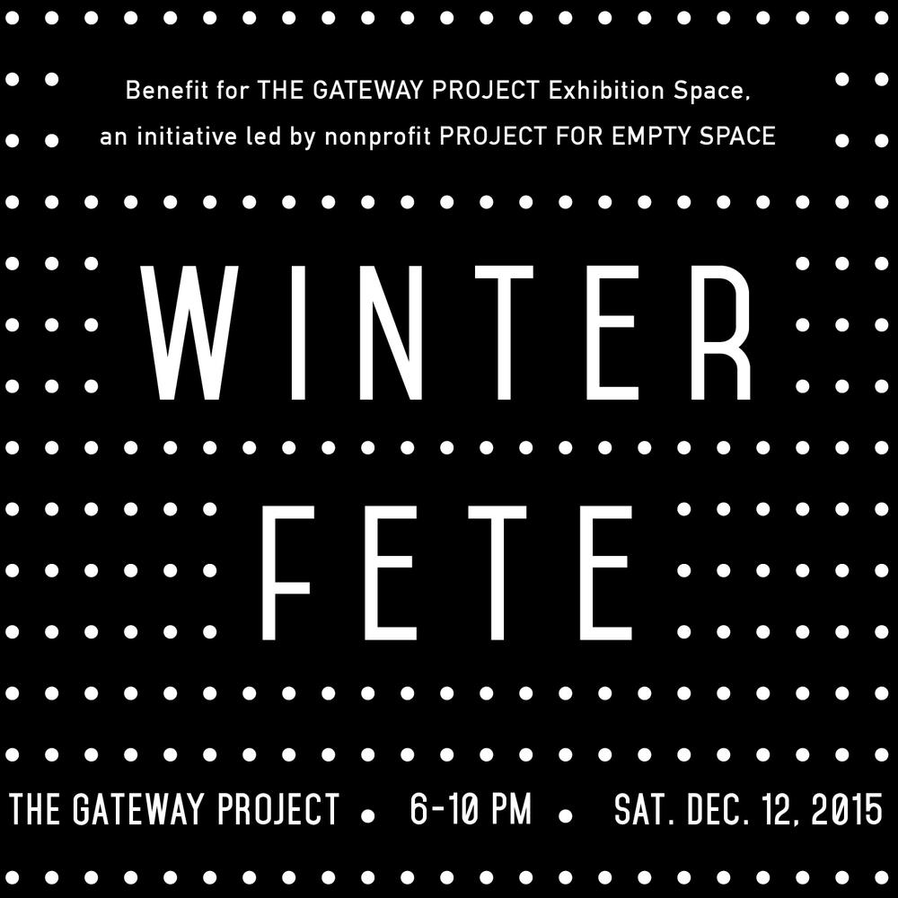 Residency Program Fundraiser fete December 12