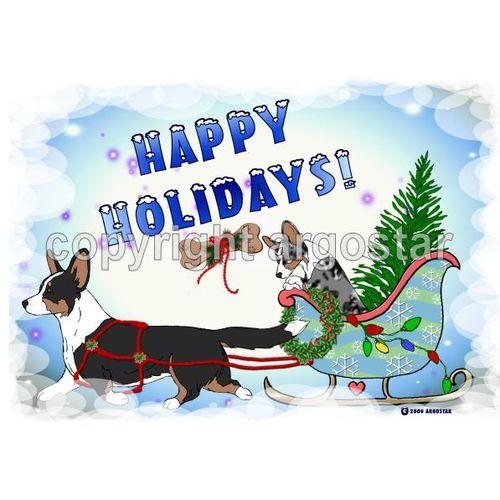 t shirt cardigan welsh corgi christmas sleigh ride - Corgi Christmas