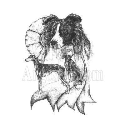 Starlite Kennels logo - Style: pen & ink