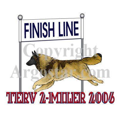 American Belgian Tervuren Club Terv 2-Miler Logo