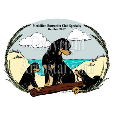 Medallion Rottweiler Club 2007 Specialty Logo