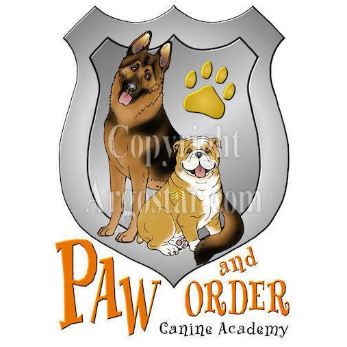 Paw and Order Canine Academy Logo