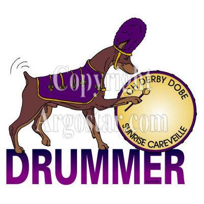 Drummer Doberman Logo