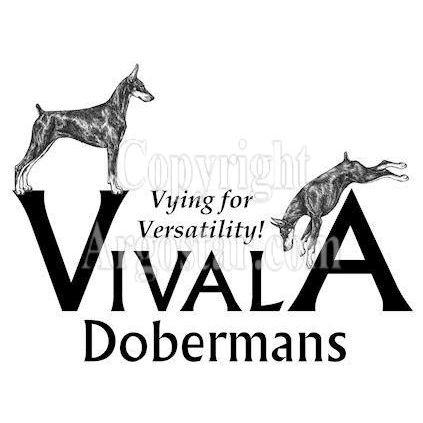 Vivala Dobermans Logo