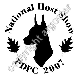 Pilgrim Doberman Pinscher Club 2007 National Host Show Logo