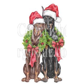 Lean on Me Doberman Rescue Christmas Logo