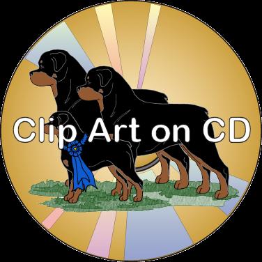 clip art on cd rottweiler clip art volume 1 argostar dog art rh argostar com rottweiler clipart black and white rottweiler head clipart