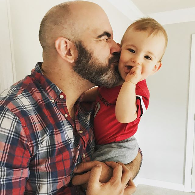 Late #fathersday post because we've been busy living! Haha He is Levi's favorite person... He's SUCH a good dad and gets the BEST belly laughs... from both of us! We love you, @producerkeith1!!