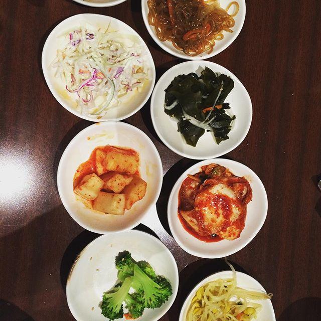 Kimchi and more! Happy Sunday! #korean #dumpling bros 😎😋🇰🇷🍜🍚
