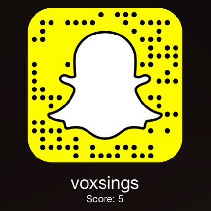 Want to see what we're up to all day?  Follow us on snapchat @ voxsings. We will be posting stories randomly.  #vox #voxrox #snapchat