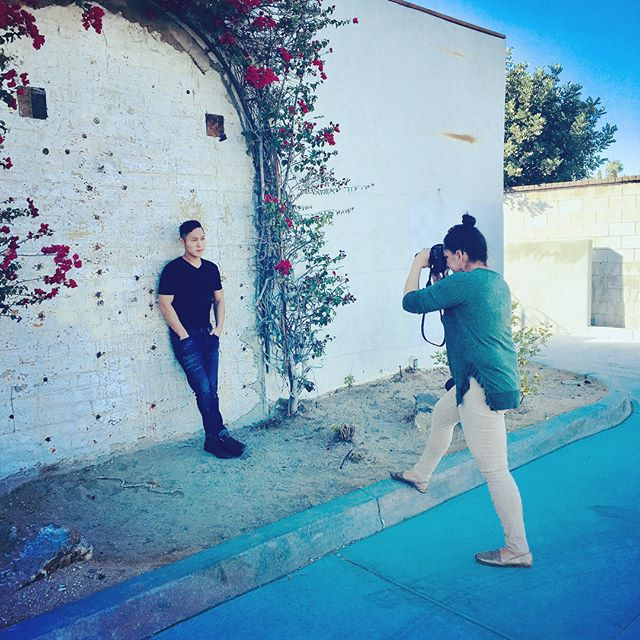 On the heels of a fabulous performance, we took some new photos with our dear friend @noemi_torres_agent  She captured some AMAZING shots we can't wait to share with you! #palmsprings #photoshoot #joshuatree #voxsings #manband