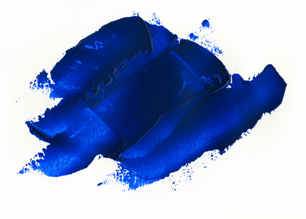 Ultramarine acrylic paint gives a very close approximation of what International Klein Blue looks like.