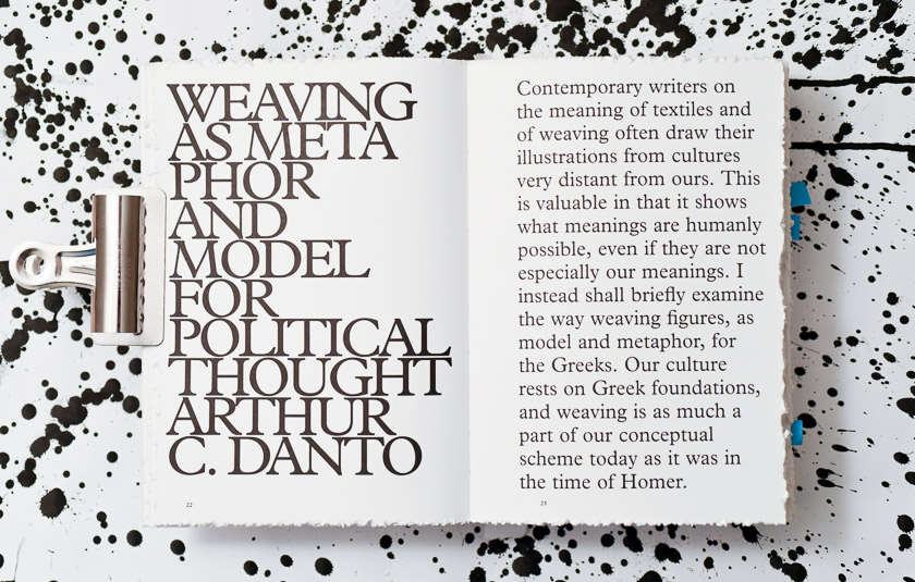 sheila hicks weaving as metaphor design art practice in typesetting of sheila hicks she started the introductory essay by arthur danto weaving as metaphor in a large type
