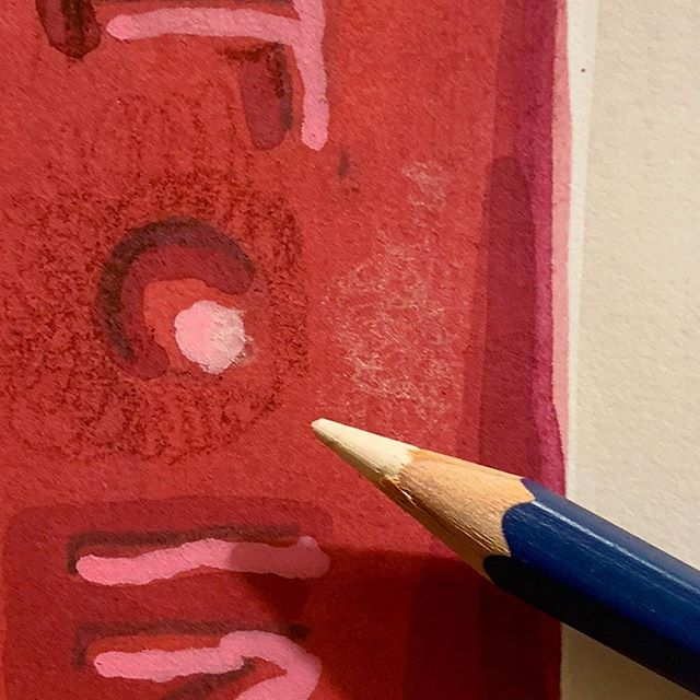 Layers of pencil work much smoother if you make little circles instead of the heavy criss cross motion I think they teach us in kindergarten and we never think to question. Pro tip about making circles came from @mariyakhanart a while ago, but I'm only now getting to try it in practice. #watercolor #pencildrawing #shadesofred