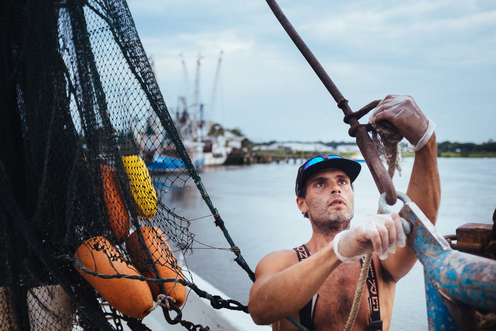 "Casey is about my age, and one of the first shrimpers I got to know on the docks. We would have a few beers at the gator and he'd fill me in on all the challenges of the trade. I heard from his dad last week - that he was in the hospital with ""shrimp poisoning"" after getting a shrimp head stuck in his hand."