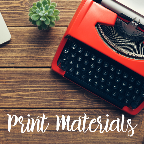 Marketing Materials for Print  (content, design)