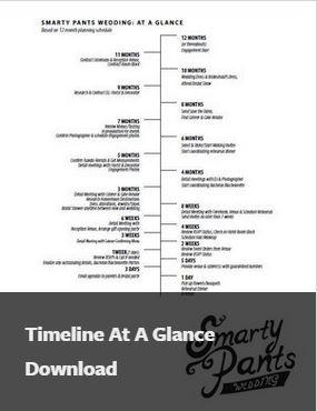 planning timelines smart wedding planning