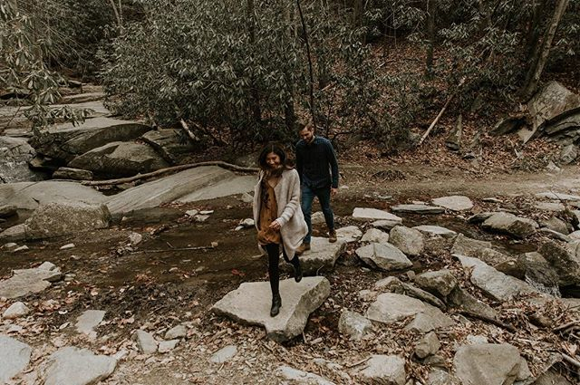 May we all be as carefree as these two sweethearts running through the woods, happy and full of love // Living stress free is so important to me and I hope to you too! I've worked diligently to create a life I can just have fun in. It's definitely not always easy or effortless. Constant self growth, know what I mean? But it's worth it! Will all of your worries still be relevant in 50 years? No! But the amount of love, adventure, joy, and happiness will matter. Spend that time with your family, go on that adventure, love fearlessly, take the risk! It will be worth it ❤️ • • • • • #foxhousestudio #foxhouseweddings  #ashevilleweddingphotographer #ashevillephotographer  #ahevilleelopementphotographer  #weddingphotographer #northcarolinaweddingphotographer #northcarolinaweddings #northcarolinadestinationphotographer #destinationphotographer #destinationweddingphotographer  #lookslikefilm #junebugweddings #photobugcommunity #tribearchipelago #heyheyhellomay #blueridgemoments  #wanderingphotographers #wanderfolk  #dirtybootsandmessyhair  #letsgosomewhere #inspireappalachia  #loveandwildhearts #catawbafalls