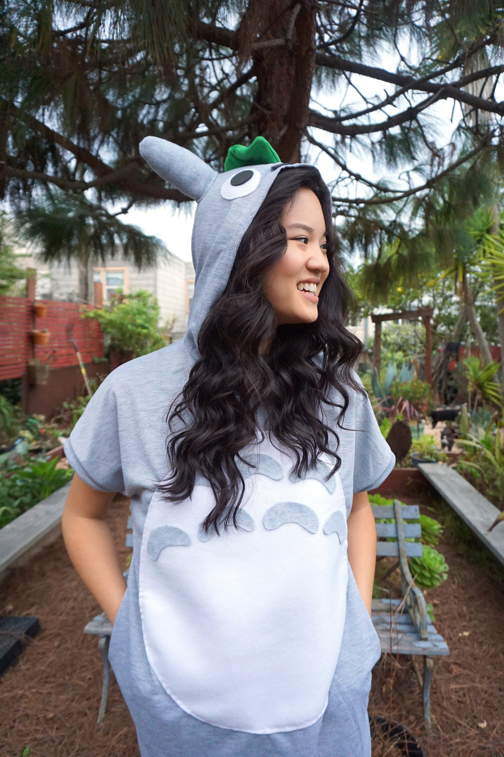 DIY Totoro Halloween Costume Tutorial by Broke and Cooking - www.brokeandcooking.com