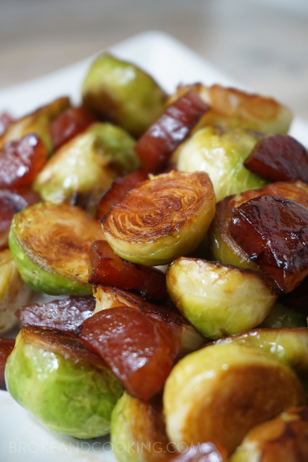 Brussels Sprouts with Chinese Sausage