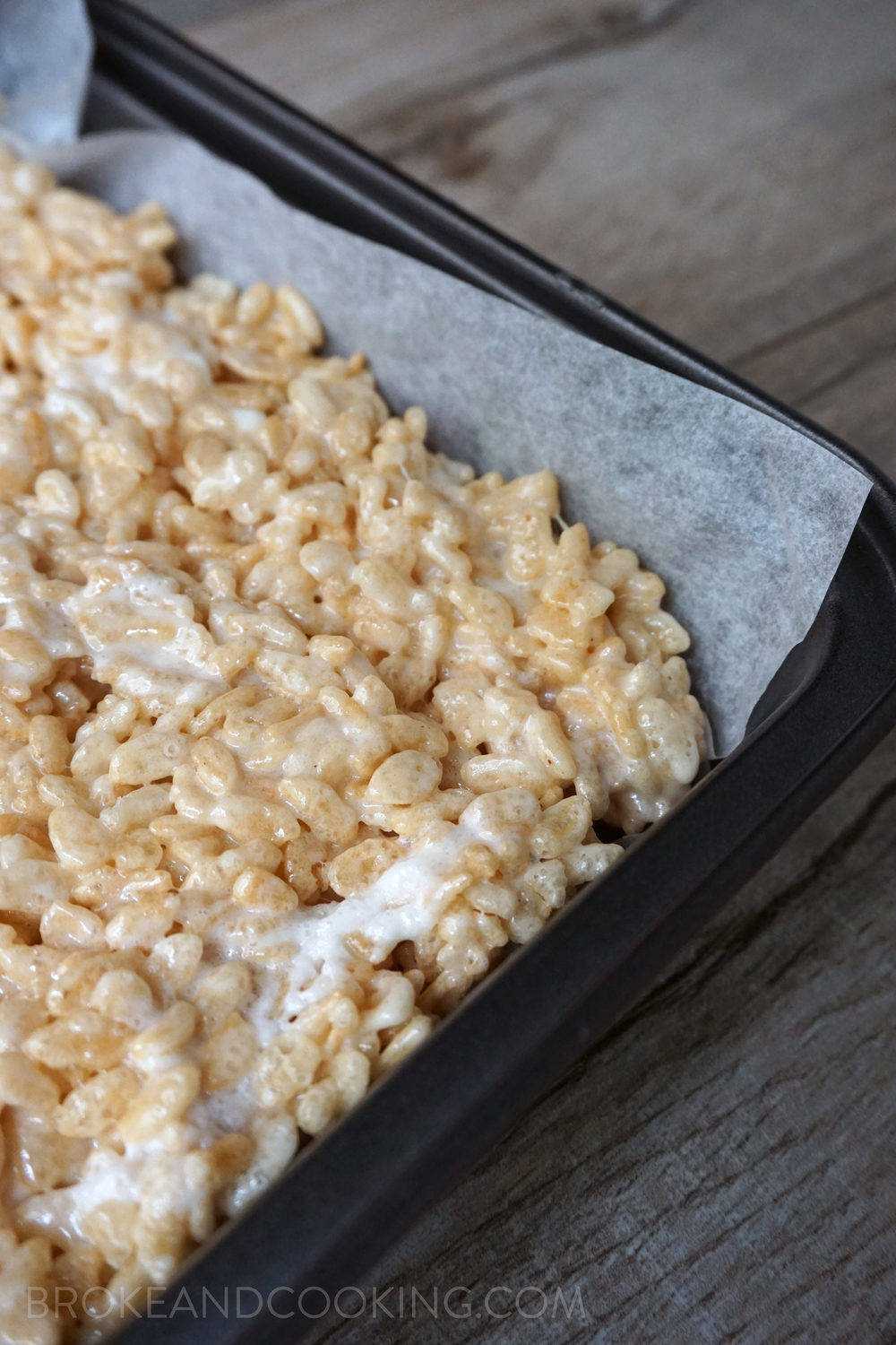 Beautiful, fluffy Rice Krispie Treats!