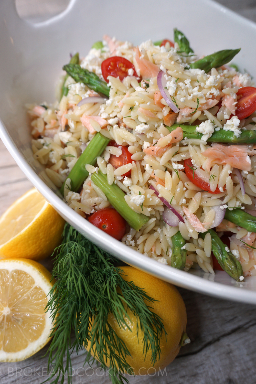 Spring Salmon, Asparagus, and Orzo Salad with Lemon-Dill Vinaigrette ...
