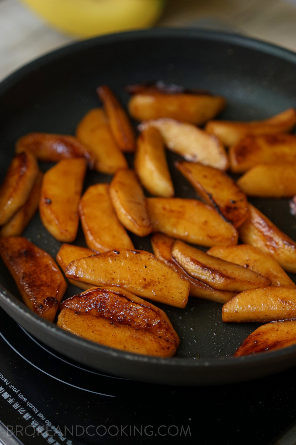 Broke and Cooking Skillet Cinnamon Apples 4