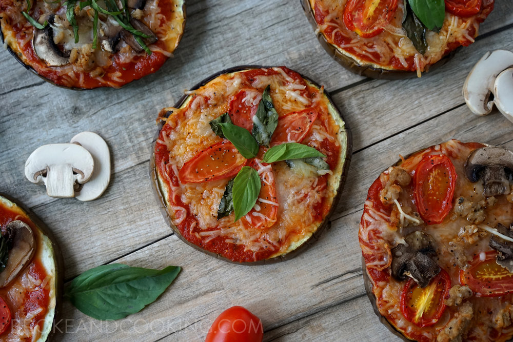 Eggplant Pizza Recipe by Broke and Cooking - www.brokeandcooking.com