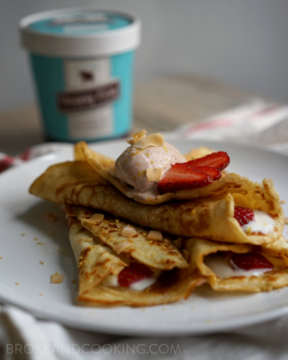 Bisquick Crepes Recipe by Broke and Cooking - www.brokeandcooking.com