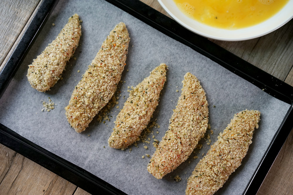 Hemp Crusted Chicken Tenders Recipe by Broke and Cooking - www.brokeandcooking.com