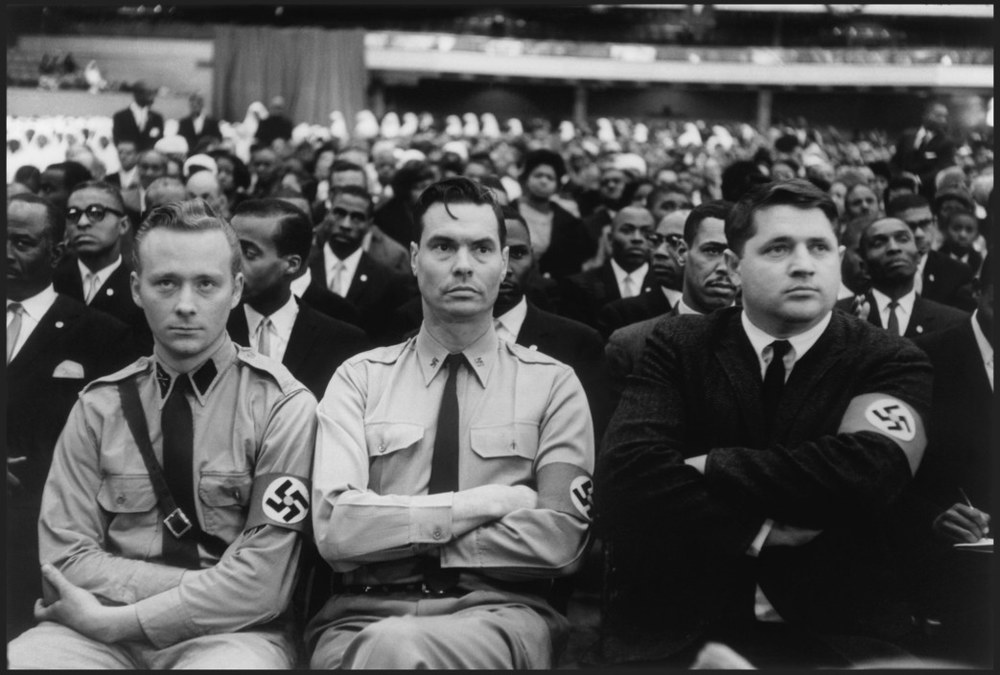 George Lincoln Rockwell and members of the American Nazi Party attend a Nation of Islam summit in 1961. Photograph by Eve Arnold