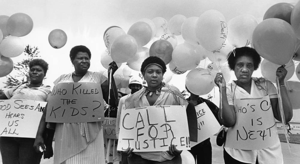 Victims Mothers March in Remembrance of all of the Missing and Murdered Children.  Photograph by W.A. Bridges (1984) Atlanta Journal-Constitution Photographic Archives. Special Collections and Archives, Georgia State University Library.